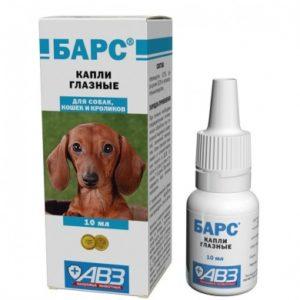 Барс — глазные капли для собак, кошек и кроликов 10 мл