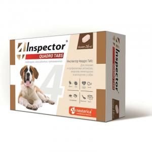 Inspector Quadro Tabs Таблетки для собак более 16 кг