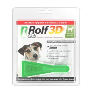 Капли ROLF CLUB 3D для собак 10-20 килограмм